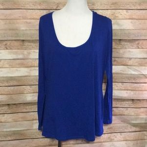 Basic blue long sleeve tshirt